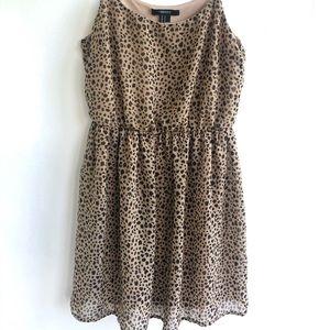 Forever 21 Spaghetti Strap Flowy Cheetah Dress M